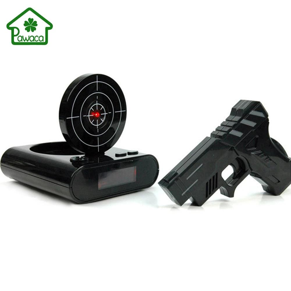1set Novelty Lcd Gun Alarm Clock With Recording Function Funny Infrared Target Shooting Game Toy Home Desk Decoration Props Gift Gun Alarm Clock Alarm Clockgun Alarm Aliexpress