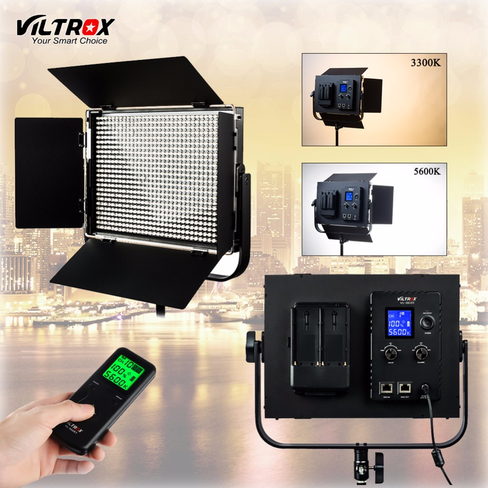 Viltrox VL-D60T Led-videoleuchte 60 Watt Dünne Bicolor Dimmbare LCD 3300 Karat-5600 Karat für Studio Kamera Camcorder & Wireless fernbedienung
