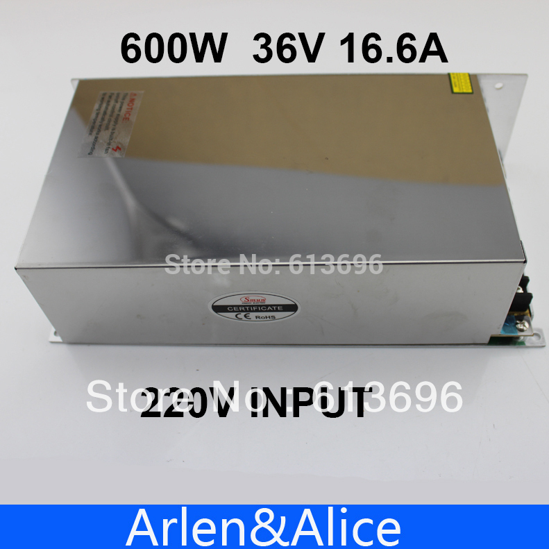600W 36V 16.6A 110V input Single Output Switching power supply for LED Strip light AC to DC best quality 12v 15a 180w switching power supply driver for led strip ac 100 240v input to dc 12v