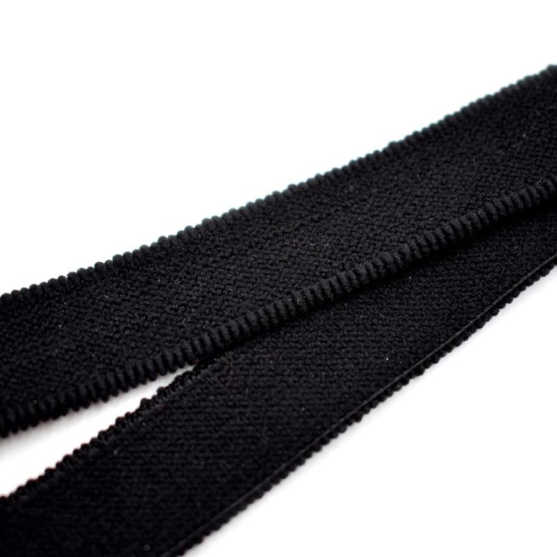 2Pcs Nylon Y Style Elastic Leg Suspender Strap Shirt Stays Non-slip Locking Clampss Black New
