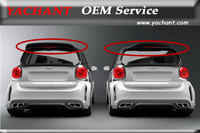 Car Styling FRP Fiber Glass Rear Roof Spiler Fit For 2015 2017 Smart Fortwo C453 & Forfour W453 AMG Style Roof Spoiler Wing