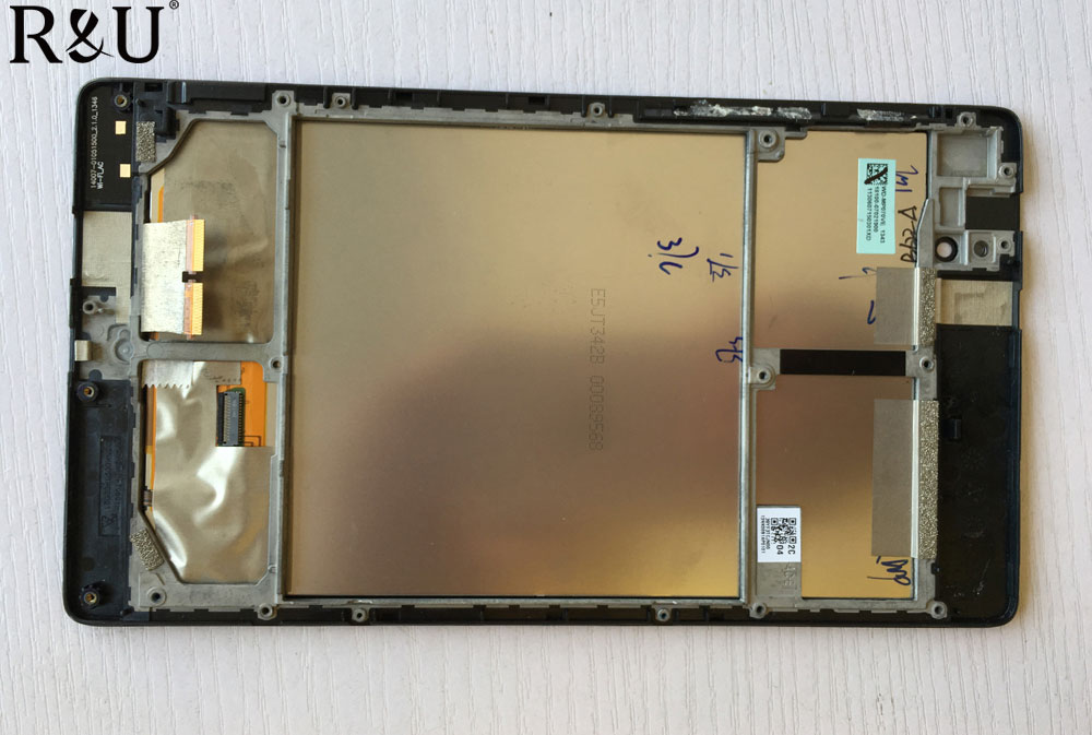 R&U Used parts lcd screen display with touch screen digitizer assembly with frame for ASUS MEMO PAD 7 ME572CL ME572