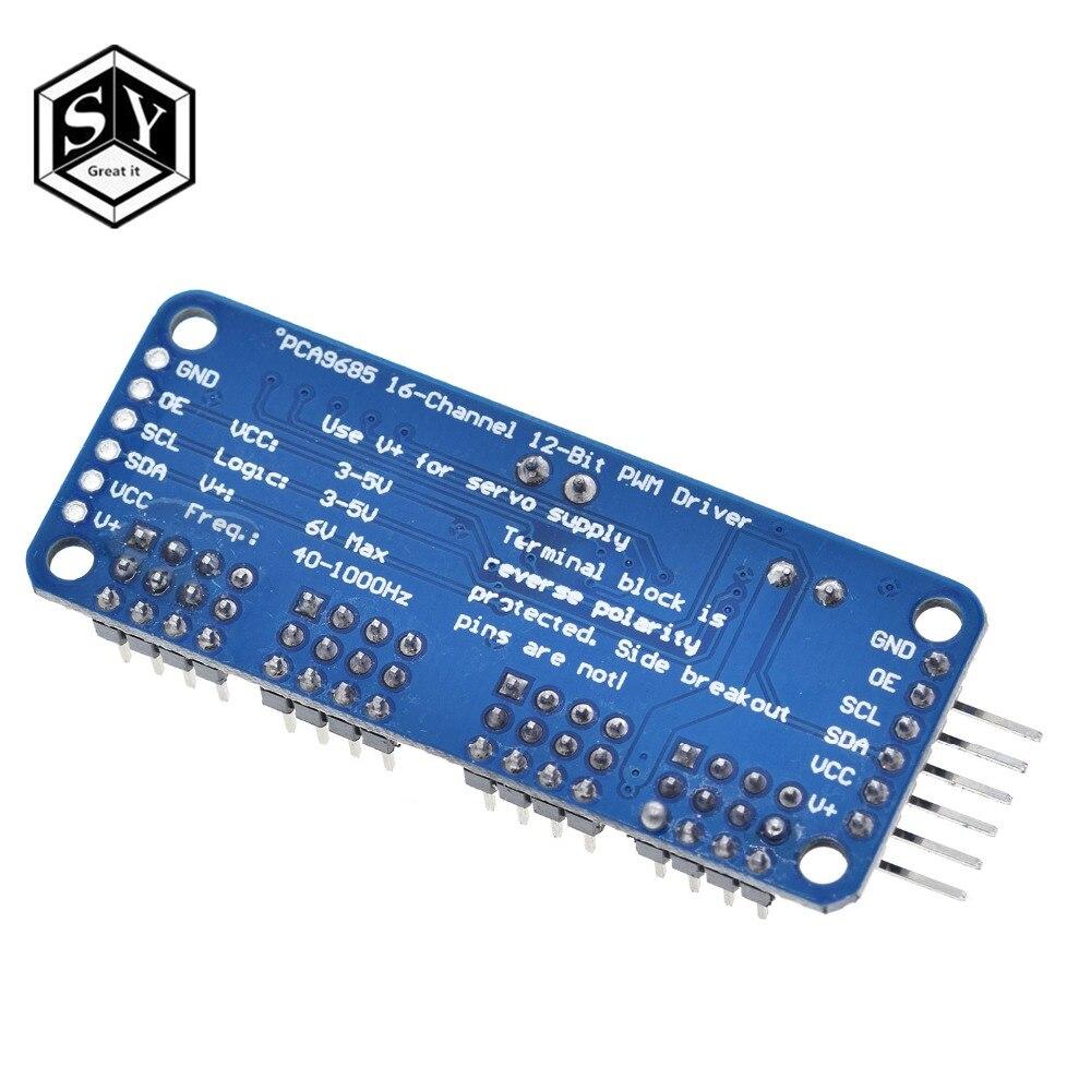 Pca9685 16 canaux 12bit pwm servo moteur pilote contrôleur i2c Module pour Arduino