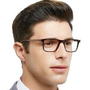 Image 1 - OCCI CHIARI High Quality Black Eyeglasses Metal Acetate Mens Eyewear Spring Hinge Optical Glasses Frame For Men W CARA