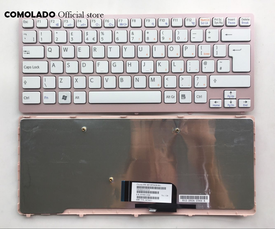 UK <font><b>Keyboard</b></font> For Sony Vaio VPC-<font><b>CW</b></font> VPC <font><b>CW</b></font> VPCCW CW16EC CW18FC pink Frame Laptop <font><b>Keyboard</b></font> UK Layout image