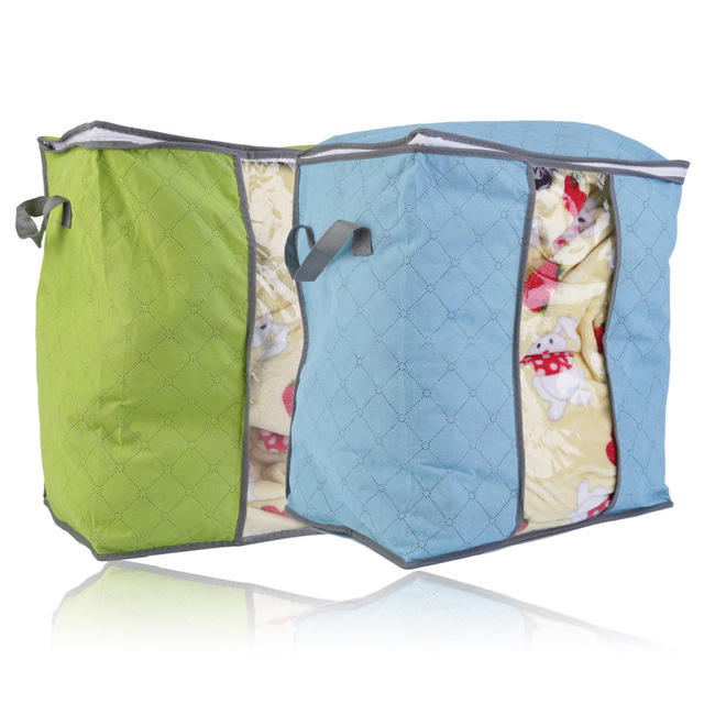 Foldable Storage Bag Clothes Blanket Quilt Closet Sweater Organizer Box Pouch G