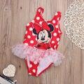 Enfant Muchachas de los cabritos Ropa Bambine Bambini Bambino Bimbo Mickey Mouse Costumi Da Bagno Tankini Bikini Conjunto