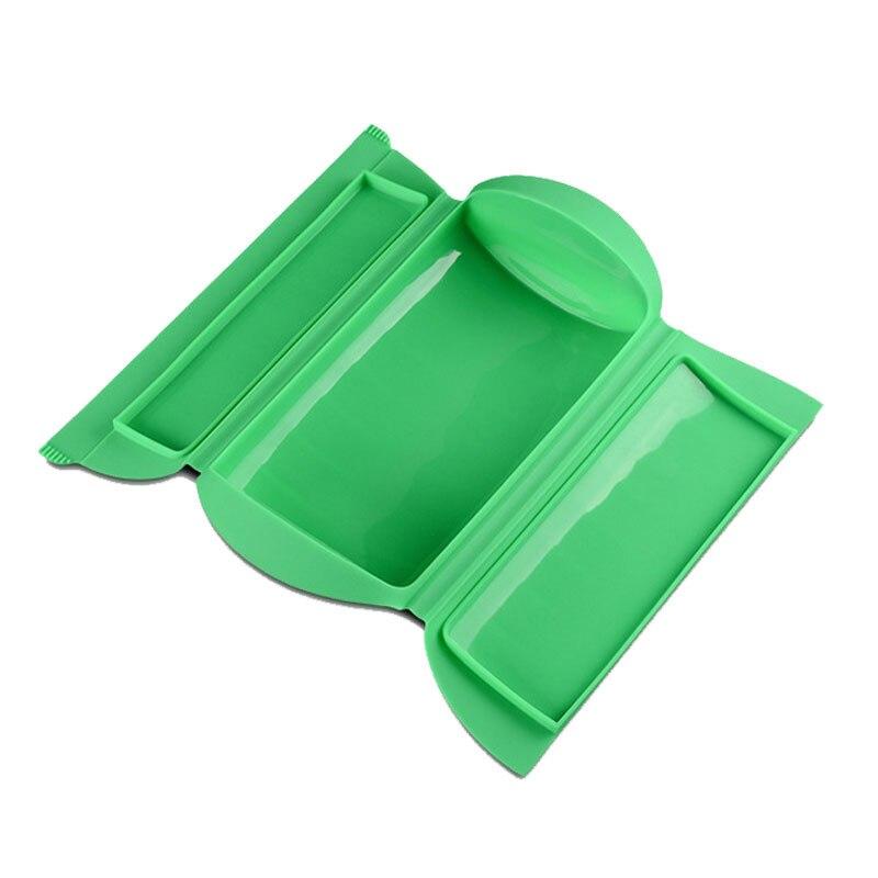 1 piezas microondas Horno de vapor CAJA PLEGABLE suave para hornear cocina tazón para herramientas de cocina pescado pan caja de comida- color al azar