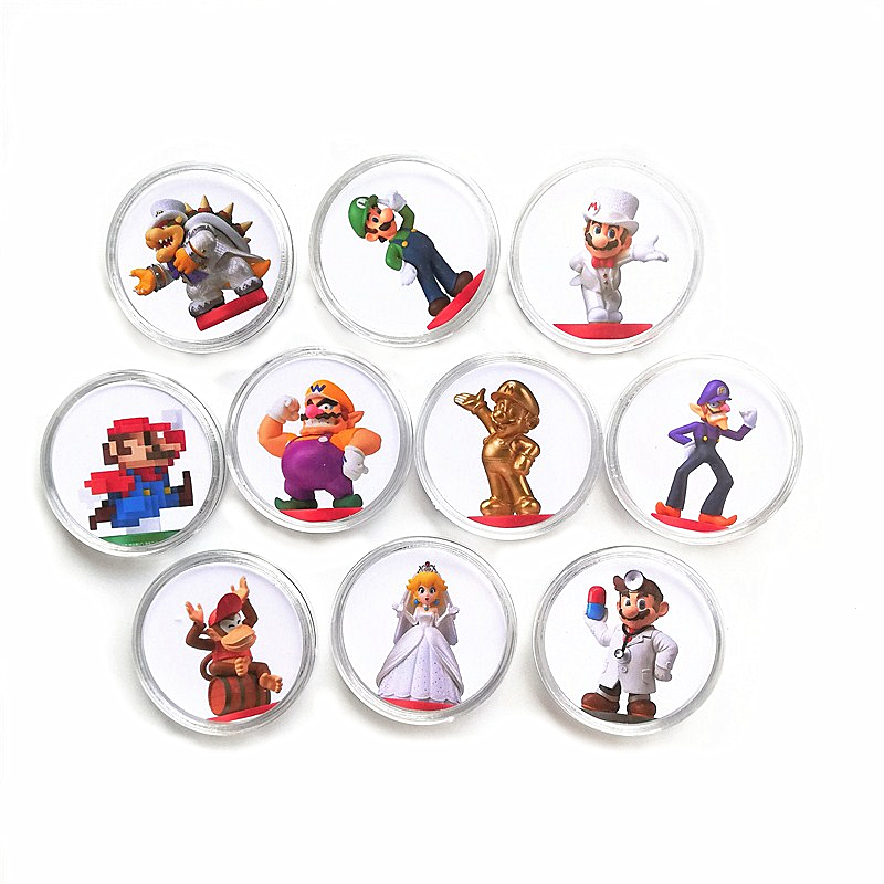10Pcs/lot Full Set Super Mario Odyssey NFC Game Card Of Amiibo Ntag215 Collection Coin Tag For NS Switch WiiU