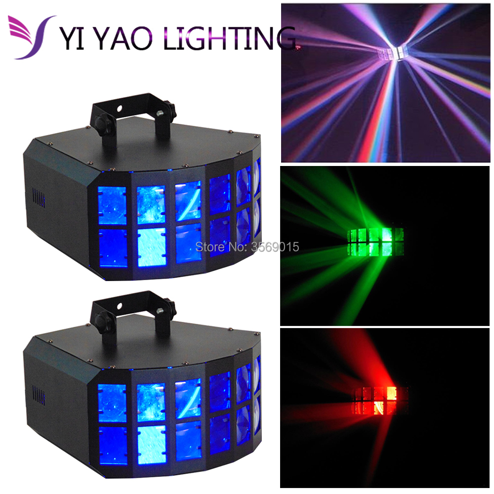 2PCS/LOT LED DJ Disco KVT Party Effect Light 2X10W RGBW 4In1 LED Double Butterfly