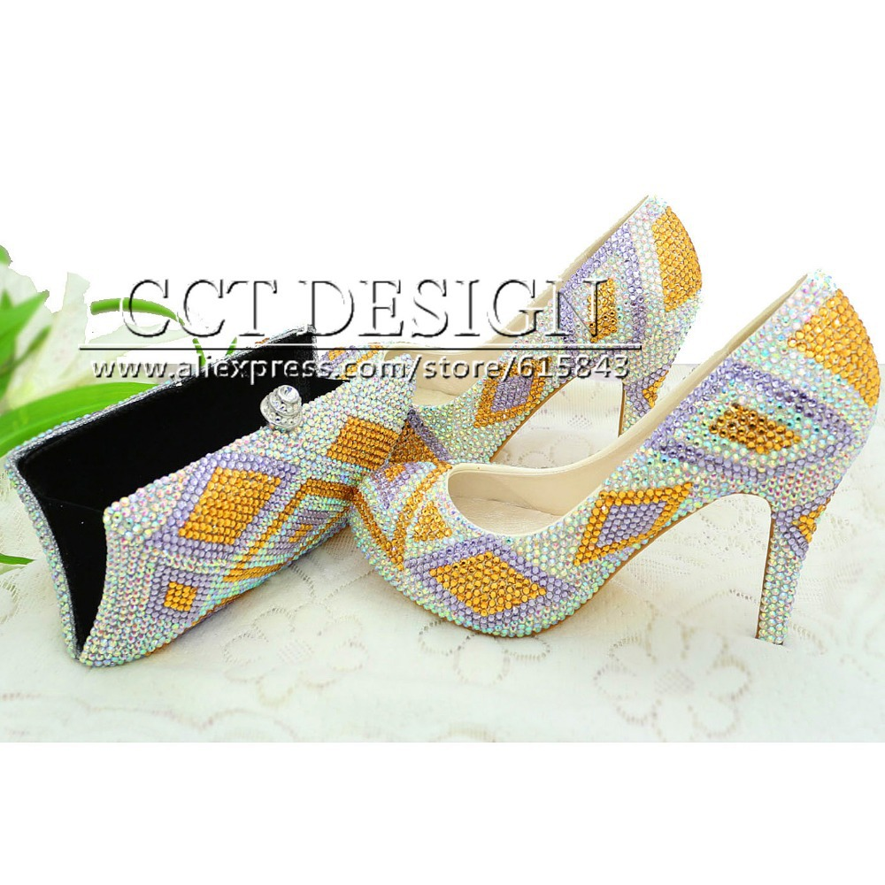 Something Glod Wedding Shoes Customized Sparkly Light Purple High Heels Platfrom Party Evening Shoes Italian Shoes And Bag Set something red wedding shoes customized sparkly diamond red high heels platfrom party evening shoes italian shoes and bag set