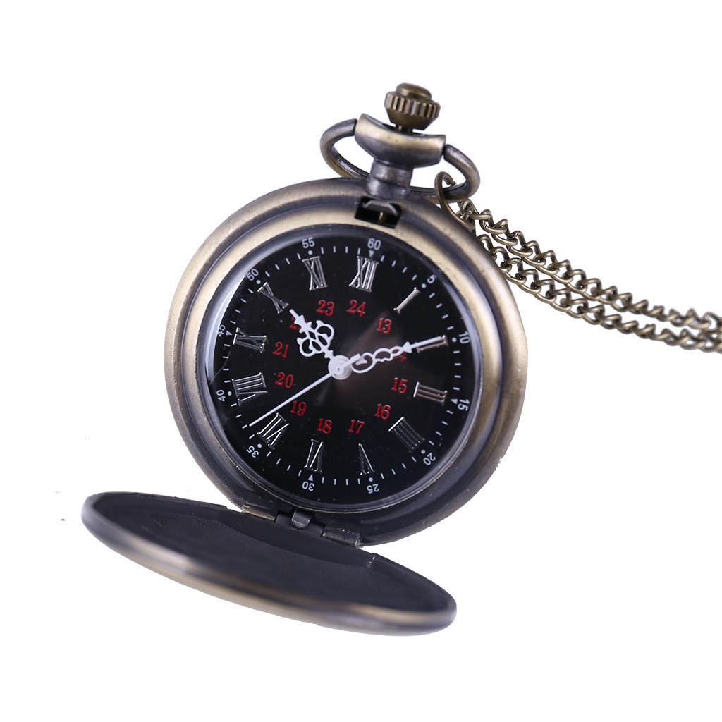Men And Women Couple Pocket Watch Retro Quartz Hanging Table Commemorative Table Relogio De Bolso Reloj De Efermeria LD