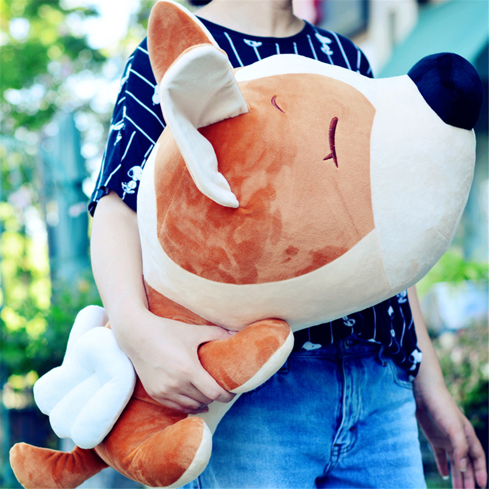 Fancytrader Cartoon Angel Dog Plush Doll Giant Stuffed Animal Dogs with Wings Toy Anime Pillow Gift for Kids 85cm 75cm 55cm fancytrader lovely soft cartoon fox plush toy stuffed animal fox dog doll pillow creative decoration gift 47inch 120cm 3 colors
