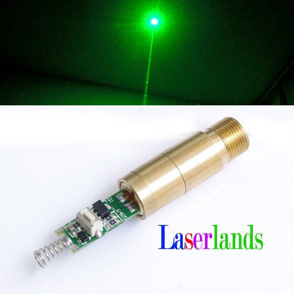 200mw 532nm Green Laser Diode Module 10mw 532nm green laser diode module size16x60mm tem00 cw dc3v