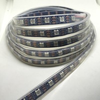 LED Strip DC 5V WS IC 2812 60 leds/m Black PCB Waterproof IP67 Dream Colorful Silicone Tube SMD5050 Chip Flexible Outdoor