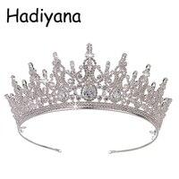 Crown HADIYANA Understated Luxury Charming Elegant Cubic Zirconia Wedding Hair Accessories Headband Beauty Gift HG6058 Corona
