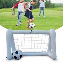 110CM Inflatable Belt Net Soccer Goal Ball Land Toys Game Small For Boy Girl
