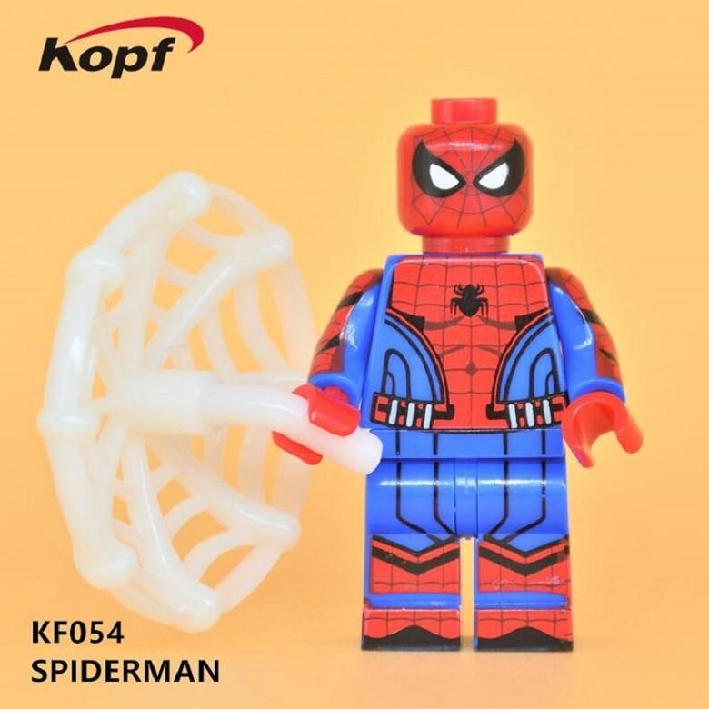 Super Heroes Star Wars Iron Man Spiderman Spider-Man Spider Man Batman Catman Bricks Building Blocks Children Gift Toys KF054 пластилин spider man 10 цветов