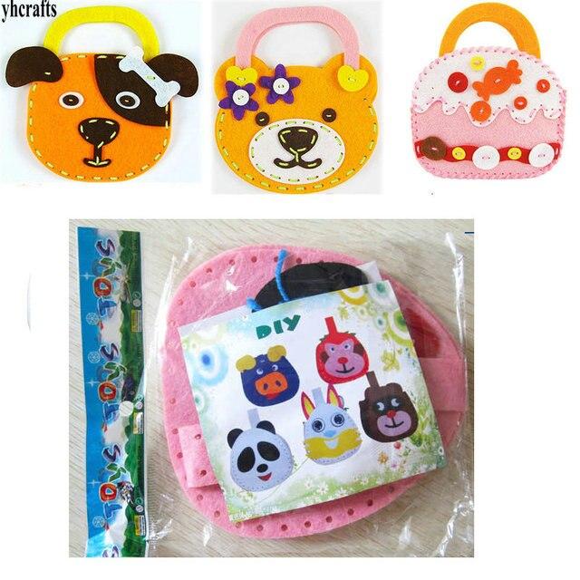 3pcs Lot Diy Felt Kids Handbag Craft Kits Birthday Crafts Creative