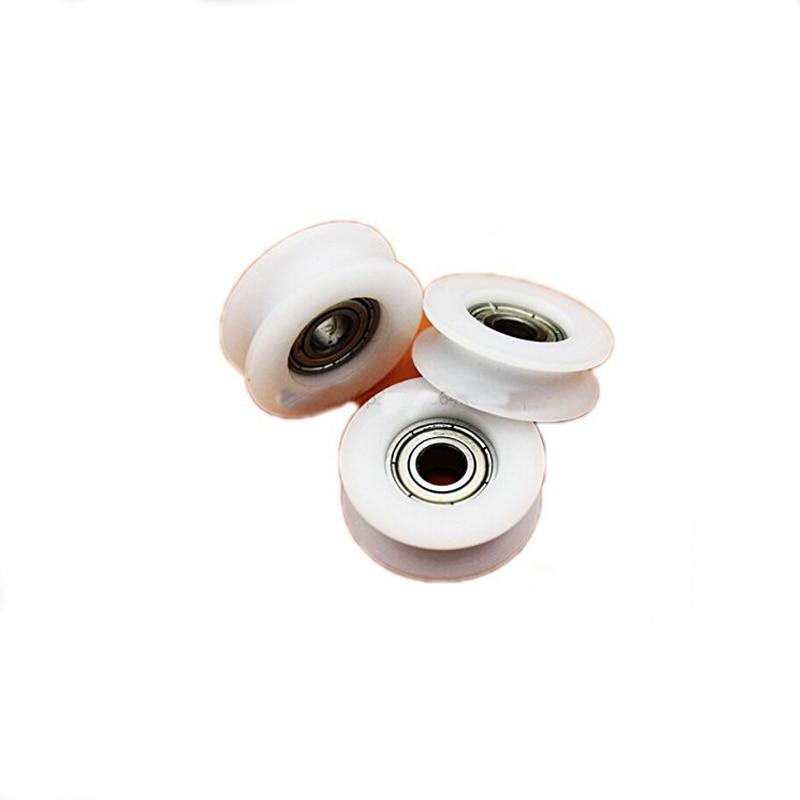 5x46.5mm Diepe Groef Ronde Groef Nylon Katrol Wielen Roller Voor 6, 8, 10mm Touw Slide Gate/hoek Bar/lades, 8*46.5*10mm Top Watermeloenen