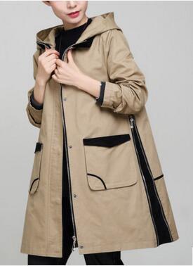 Большой размер случайные свободные куртка с капюшоном Девушки длинный участок корейской версии плюс удобрения для увеличения жира хлопок