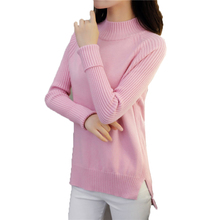 2018 New Women Pullover Autumn Winter Turtleneck Sweater Pull Long Sleeve Knitted Sweaters Female Jersey poncho LJ027