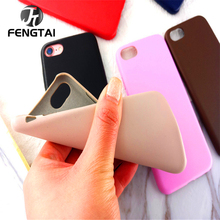 Luxury Color Silicone Case For iPhone 7 8 Plus case Apple 7plus 8plus Cover Screen Protector