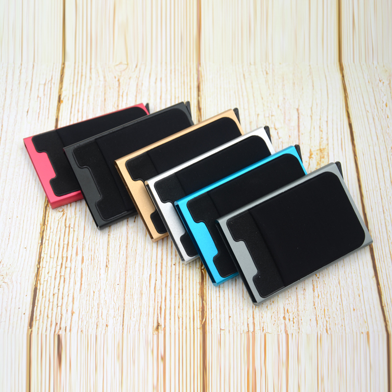 Credit Card Holder Case Aluminum Wallet With Elasticity Back Pocket RFID Thin Metal Wallet Business ID Card Holder 13