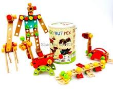 New DIY Wooden Toys 84pcs Assemblage tools sets