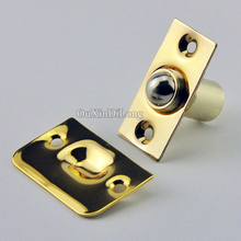 Express Shipping ! Wholesale 100PCS Brass Strike Plate Closet Door Ball Catch Suck Touch Beads Latch Catches 20pcs plastic steel magnetic cabinet cupboard catch glasses window door catches pull clamps ark to suck white hg99