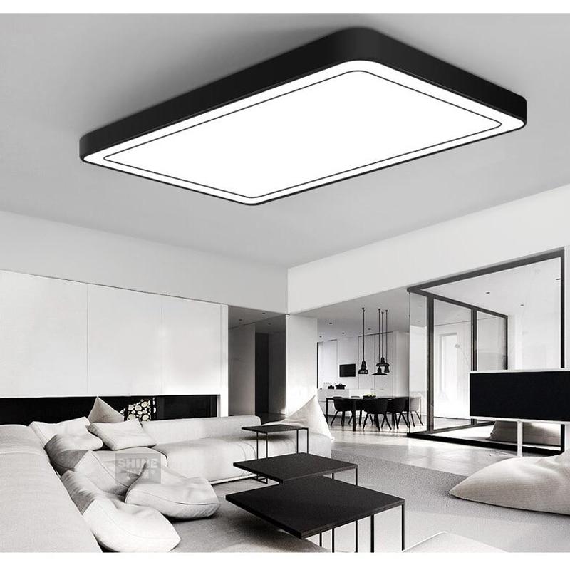 office lighting Ceiling Lights minimalist rectangular LED ceiling living room lights romantic bedroom lamp ZA BG26