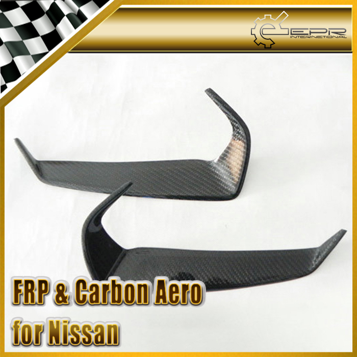Car-styling Carbon Fiber Eyebrow Eyebrows Eyelids Fit For Nissan 2009-2011 R35 GTR In Stock free shipping carbon fiber headlight covers eyelids eyebrows fit for mazda 6 vi ruiyi 09 13