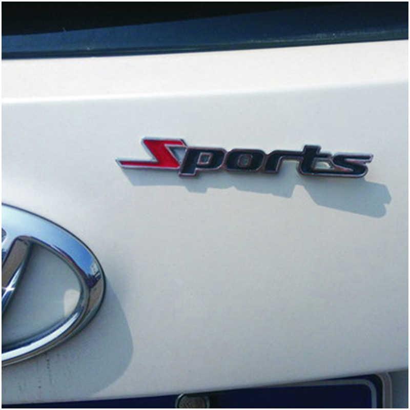 1X سيارة الرياضة ملصقات 3D المعادن ملصقات التصميم ل مقعد ليون إيبيزا سيارة رينو داستر ميجان 2 لوجان Captur كليو مازدا 3 6 CX-5