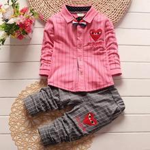 New style Baby font b Boy b font Clothing Sets children T shirts pants kids cotton