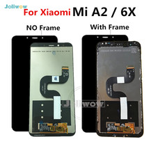 купить AAA Quality For Xiaomi A2 LCD Mi A2 MIA2 Display Touch Screen Digitizer Panel Assembly Replacement For Xiaomi 6X LCD недорого