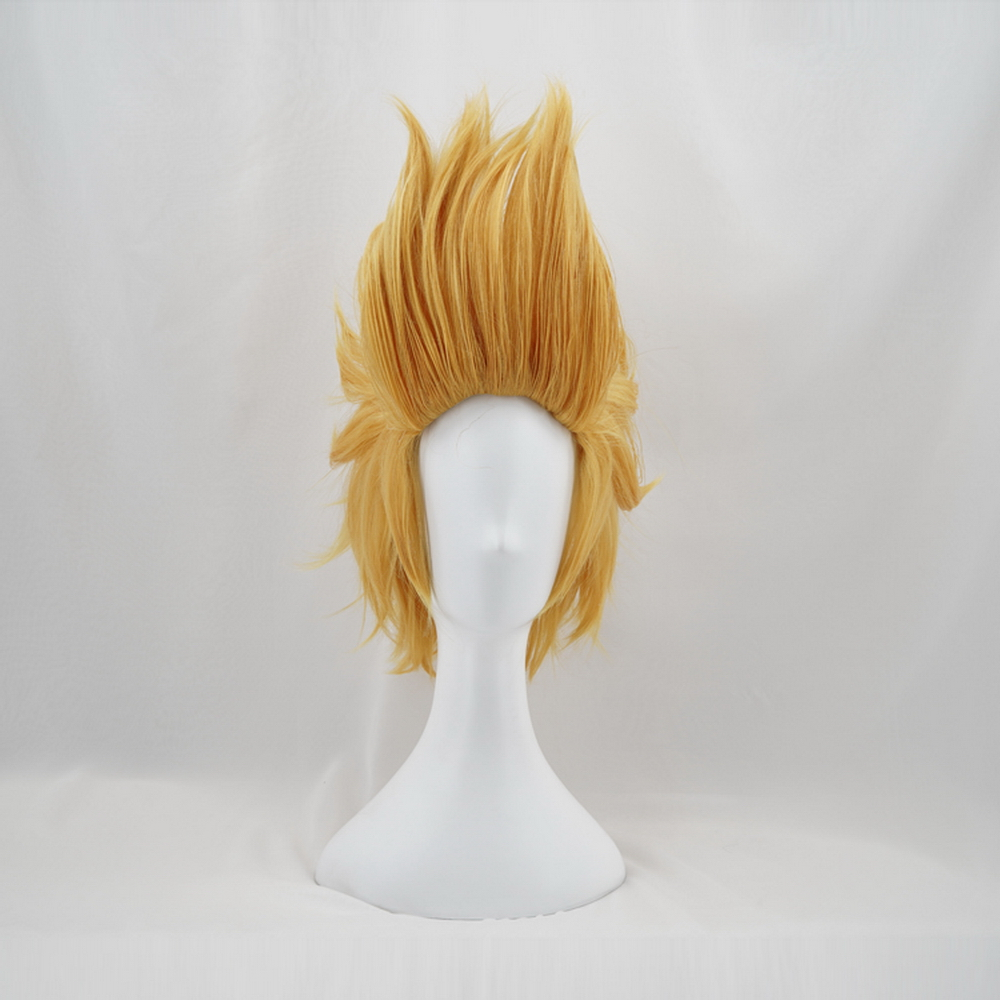 My Hero Academia <font><b>Mirio</b></font> Toogata Golden Short <font><b>Cosplay</b></font> Wig Men Boku no Academia Halloween Costume Synthetic Hair Wigs + Wig Cap image