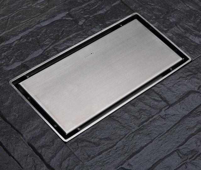 Stainless Steel Deodorant Floor Drain Large Shower Drain Thick  Rectangular(size:2000mmX100mm)