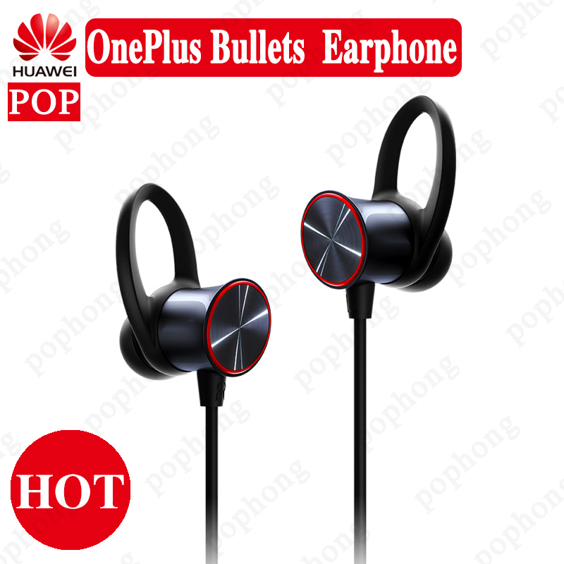 Original OnePlus Bullets Wireless Earphones Free Your Music Magnetic Mic Resistant Fast Charge Support aptXTM