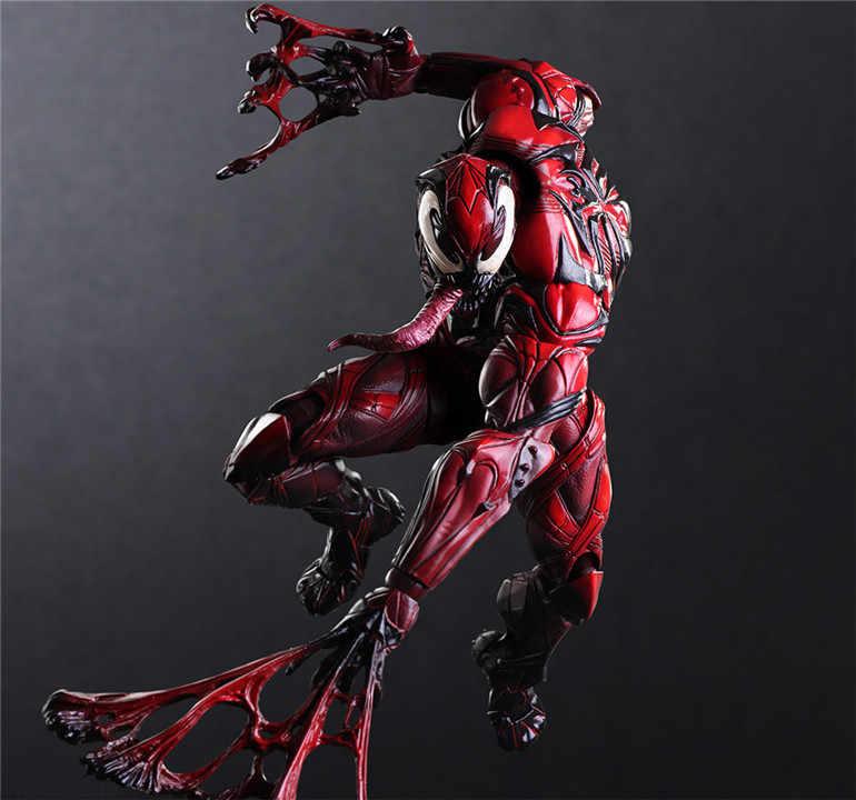 Jogar Arts Kai Kai Deadpool spiderman Homem de Ferro Capitão América Venom PA 27 centímetros PVC Action Figure Boneca Brinquedos Infantis brinquedos de presente