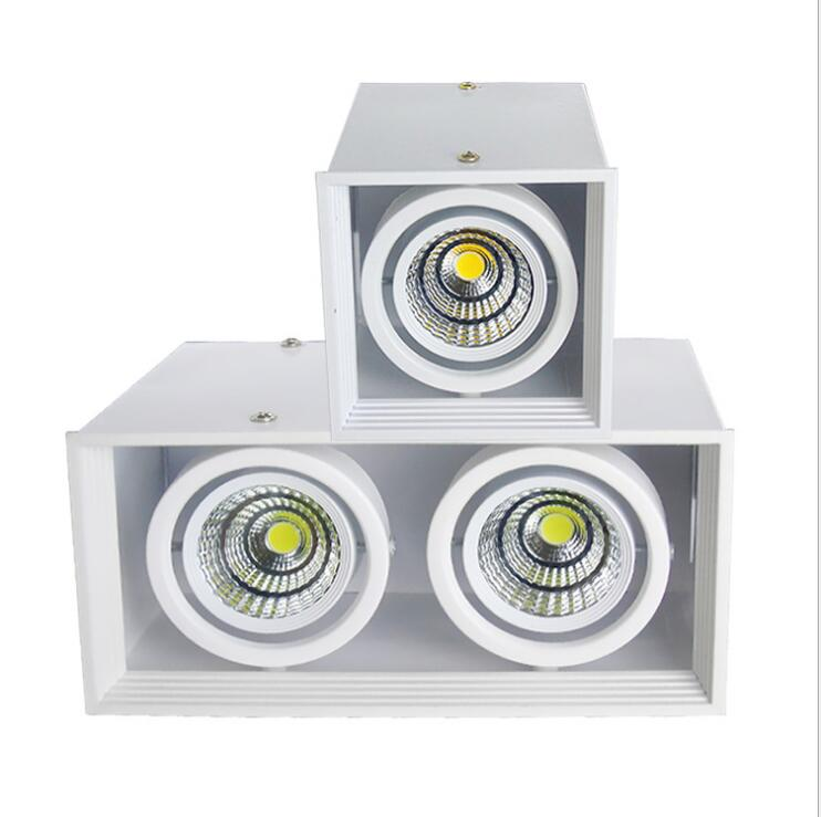 20w Led Surface Mounted: 2pcs Energy Saving Square Surface Mounted LED COB Dimmable