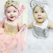 Baby Girl Princess Sequins Dress Toddler Baby Wedding Fancy Party Tutu Dresses 3 18M DH2