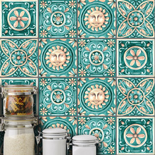Nordic Retro Mosaic Tile Wall Sticker Kitchen Self Adhesive Bathroom Toilet Floor Home Decor Removable Waterproof PVC Wallpaper