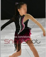 Red Figure Skating Dress Custom Women Competition Ice Skating Dresses For Girls Ice Figure Skating Dress Free Shipping B9