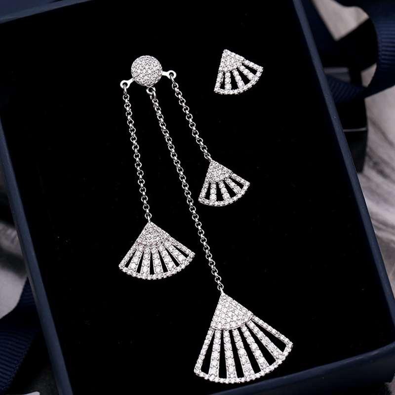 Ruifan Europe Sector Irregular Earrings for Women Hight Quality 2019 Korean Cubic Zircon Large Pendants Dangler Earring YEA323