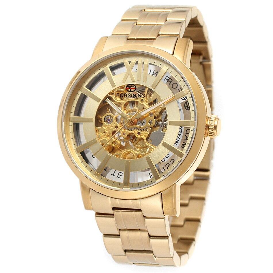 где купить New FORSINING Men's Skeleton Automatic Mechanical Wrist Watch Montre Homme Cool  Gift Free Ship по лучшей цене