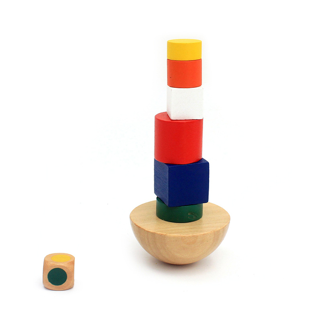 Wooden-Geometric-Blocks-kids-Balancing-Game-Toys-8Pcs-Stacking-Blocks-Cloth-Learning-Educational-Toy-For-Children