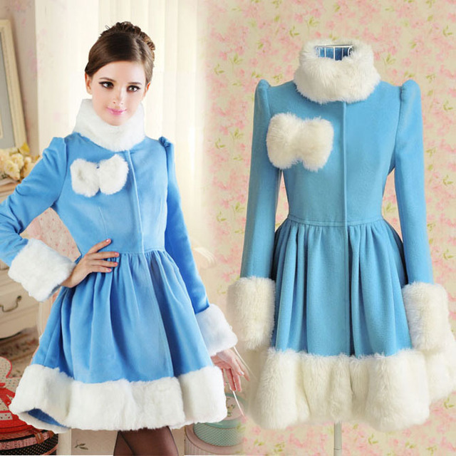 Aliexpress.com : Buy Women Nice New Fur Collar Autumn Winter Wool ...