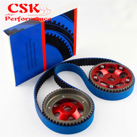 Racing Timing Belt + Cam Gear Pulley Kit Fits For 1993 2002 Toyota Supra Mask IV 2JZ GTE 2JZ Red/Purple/Blue