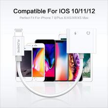 Splitter адаптер 3,5 мм, AUX, разъем наушников аудио наушники сплиттер кабель Музыка для iphone X XS Max XR 7 8 плюс