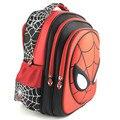 Nova moda 2015 mochila dos desenhos animados com zíper estilo de moda cool boy spiderman saco criança mochila impressão mochila para criança